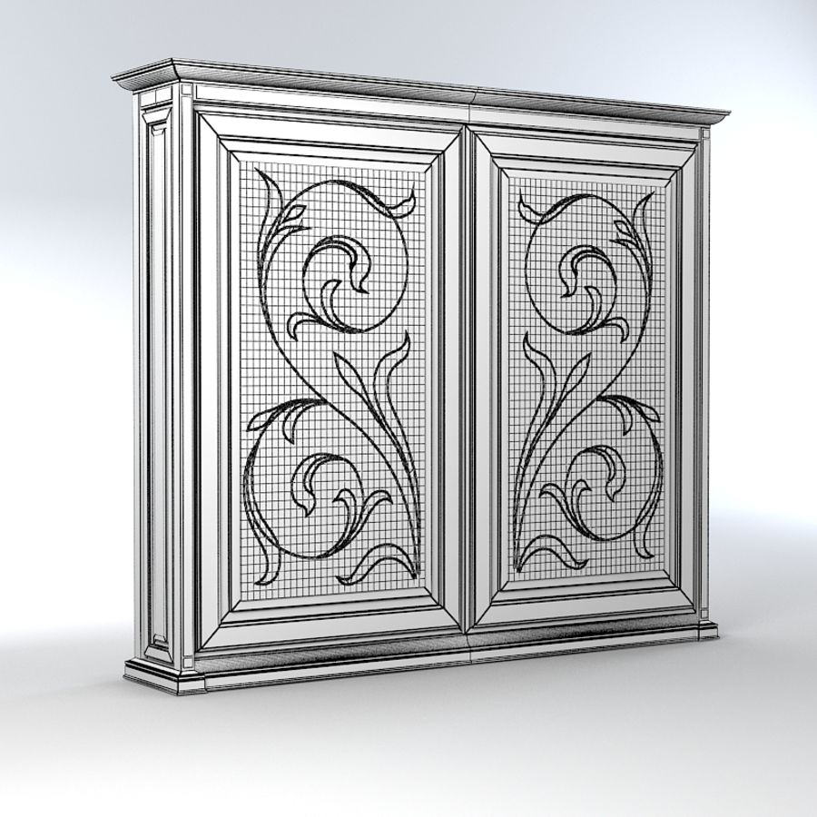 Benedetti Mobilime Mediceo Armoire royalty-free 3d model - Preview no. 4