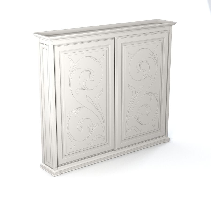 Benedetti Mobilime Mediceo Armoire royalty-free 3d model - Preview no. 2