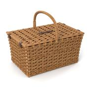 Rattan Wicker Basket 3d model