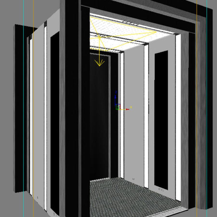 이중 문 엘리베이터 royalty-free 3d model - Preview no. 5