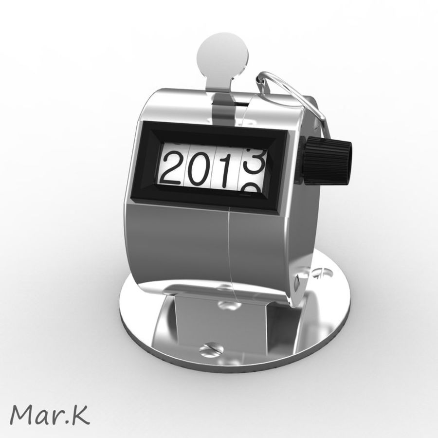 Contador mecânico royalty-free 3d model - Preview no. 2