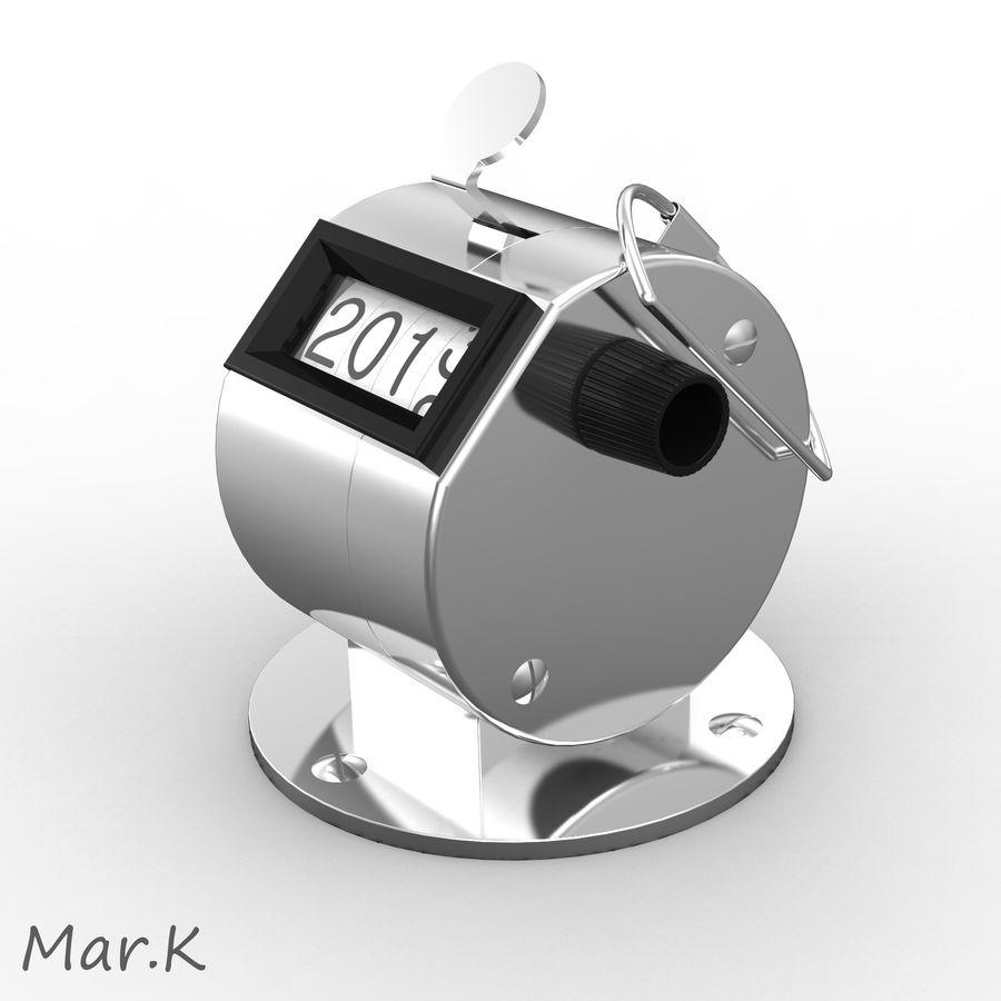 Contador mecânico royalty-free 3d model - Preview no. 3