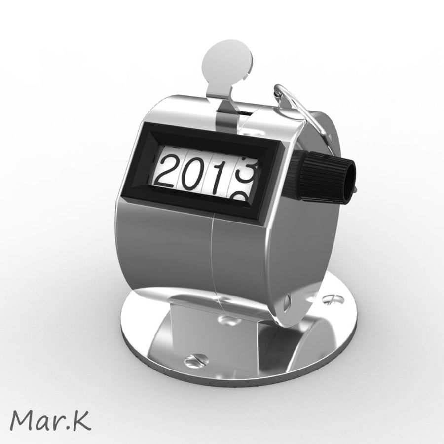 Contador mecânico royalty-free 3d model - Preview no. 1