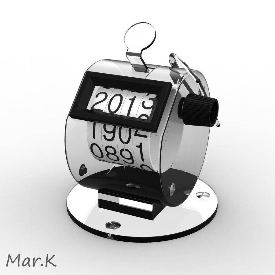 Contador mecânico royalty-free 3d model - Preview no. 4