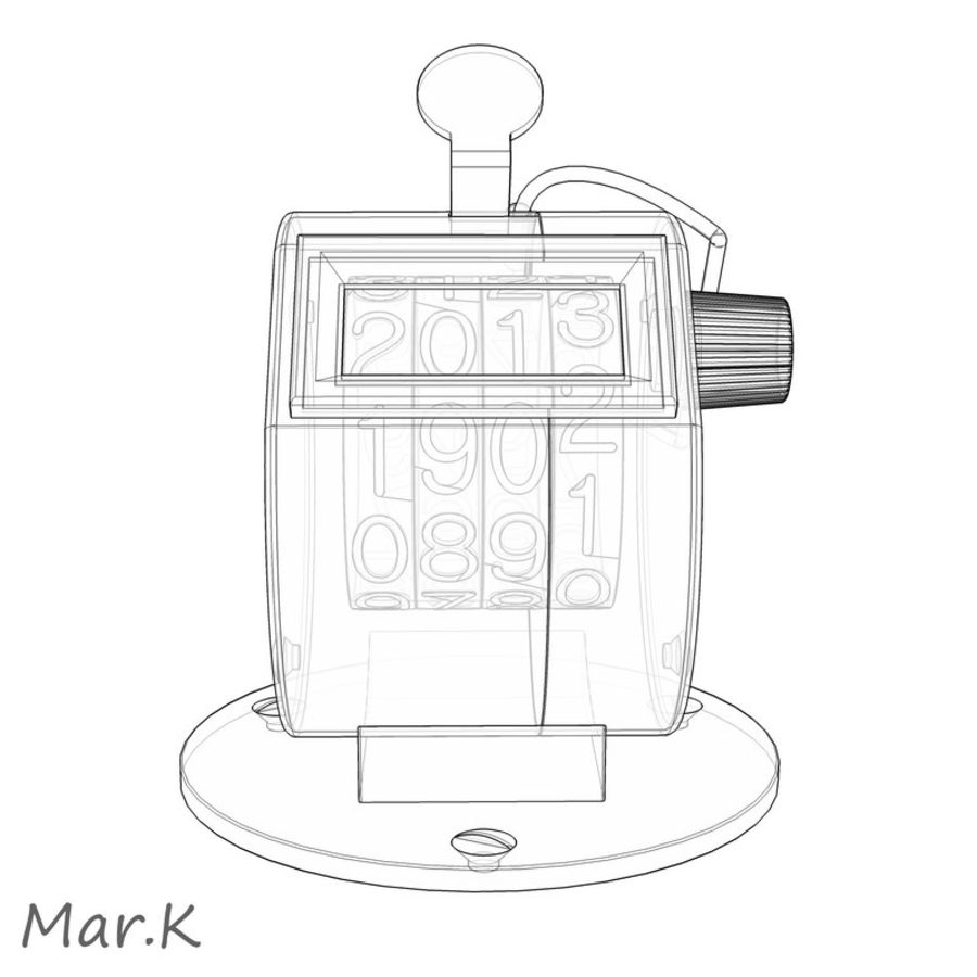 Contador mecânico royalty-free 3d model - Preview no. 5