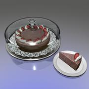 Strawberry Marble Cheesecake 3d model