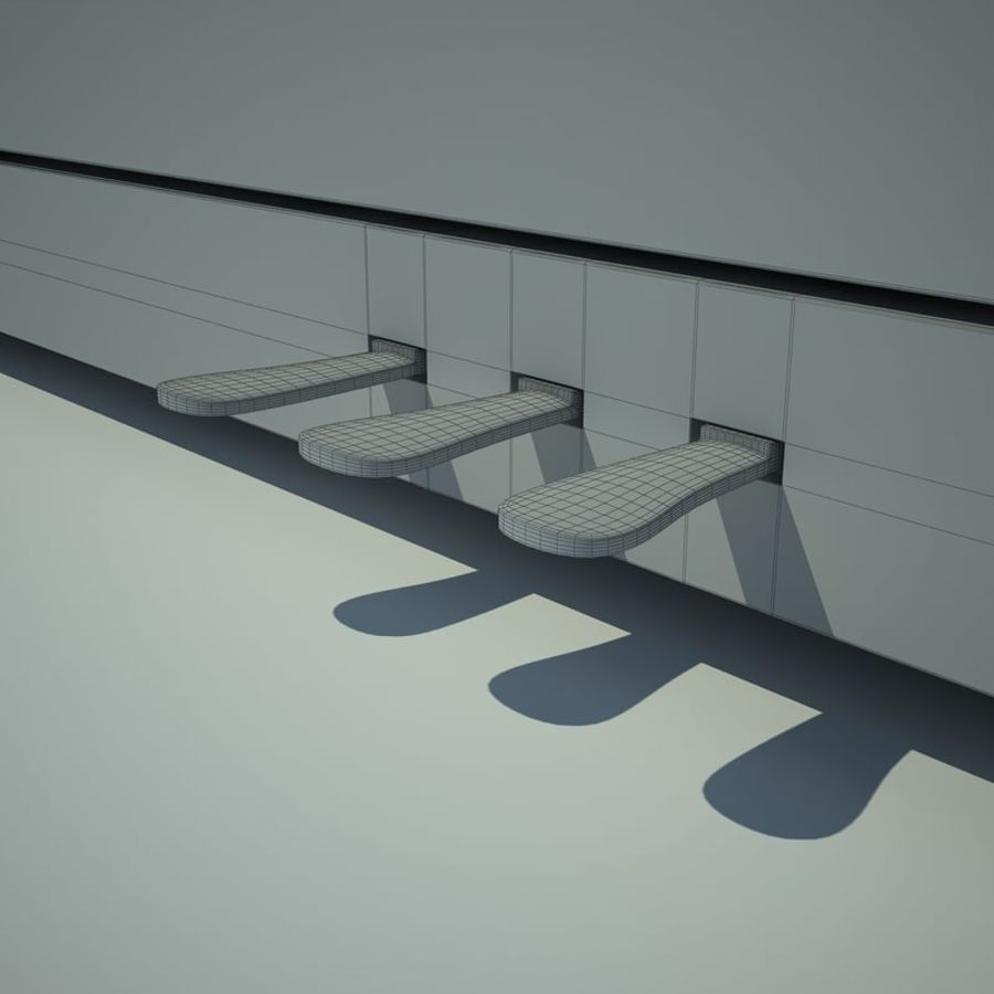 Piano royalty-free 3d model - Preview no. 14