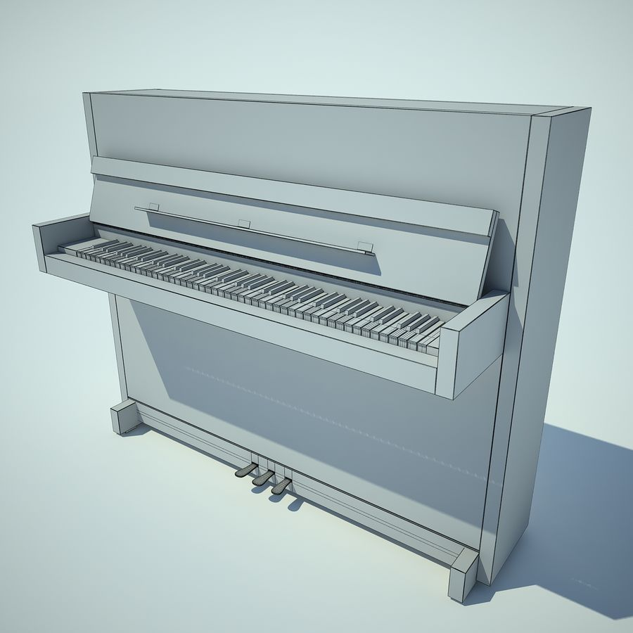 Piano royalty-free 3d model - Preview no. 4