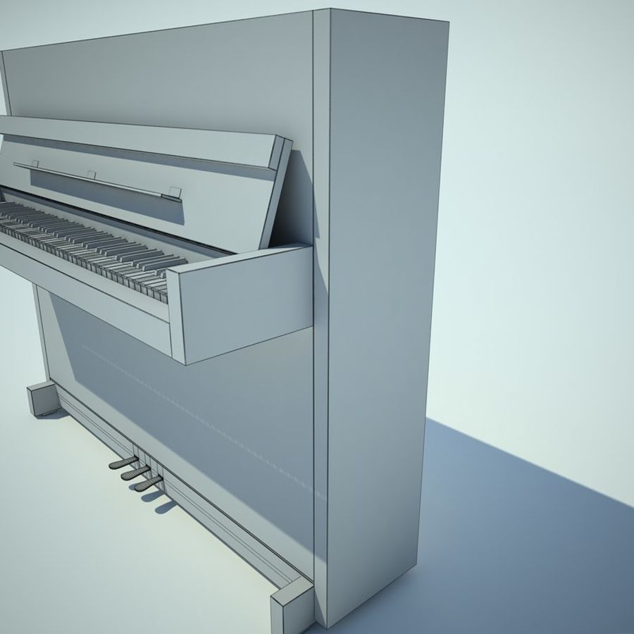 Piano royalty-free 3d model - Preview no. 15