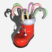 圣诞老人手杖 3d model