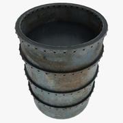 Vattenvatten av metall 3d model