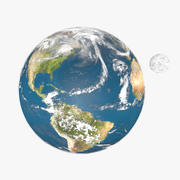 Terre et Lune 3d model