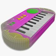Teclado electrónico de juguete modelo 3d