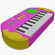 Tastiera giocattolo elettronica 3d model