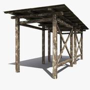木棚 3d model