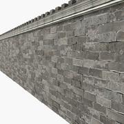 Medieval Stone Block Big Wall 3d model