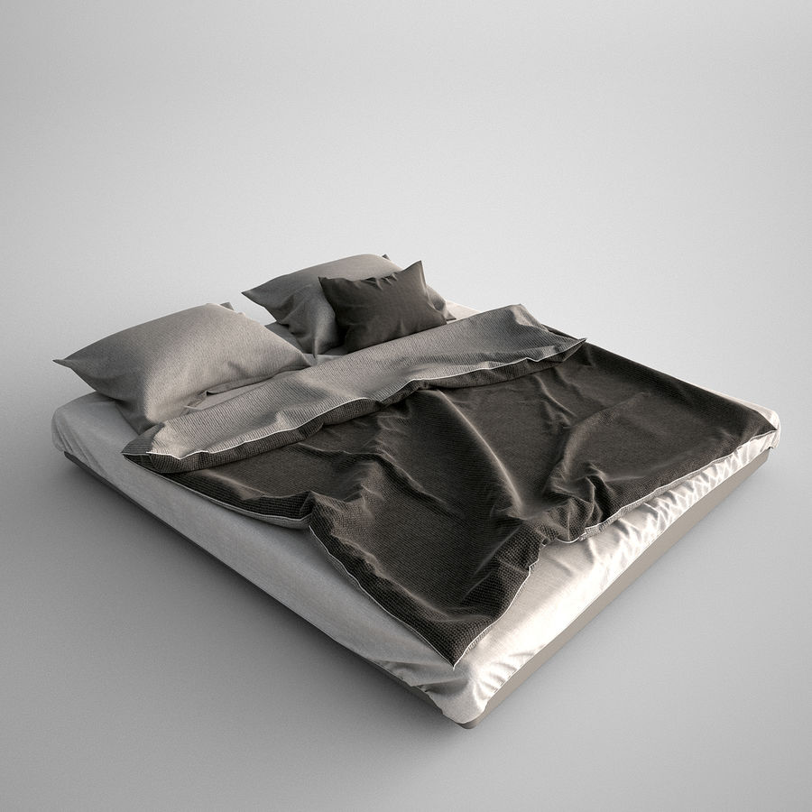 Bed Blanket royalty-free 3d model - Preview no. 2