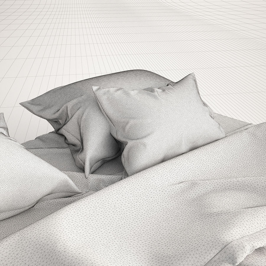 Bed Blanket royalty-free 3d model - Preview no. 8
