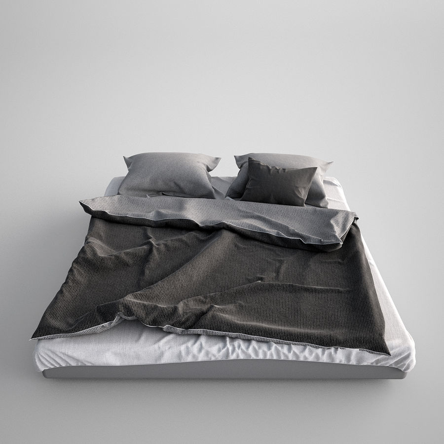 Bed Blanket royalty-free 3d model - Preview no. 3