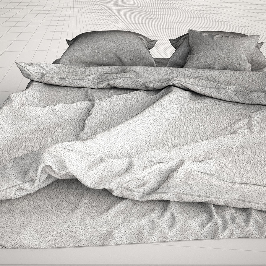 Bed Blanket royalty-free 3d model - Preview no. 7