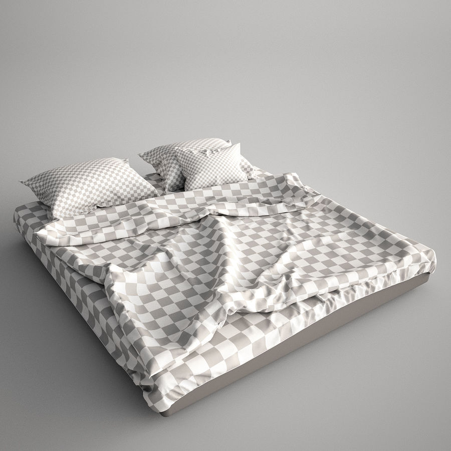 Bed Blanket royalty-free 3d model - Preview no. 6