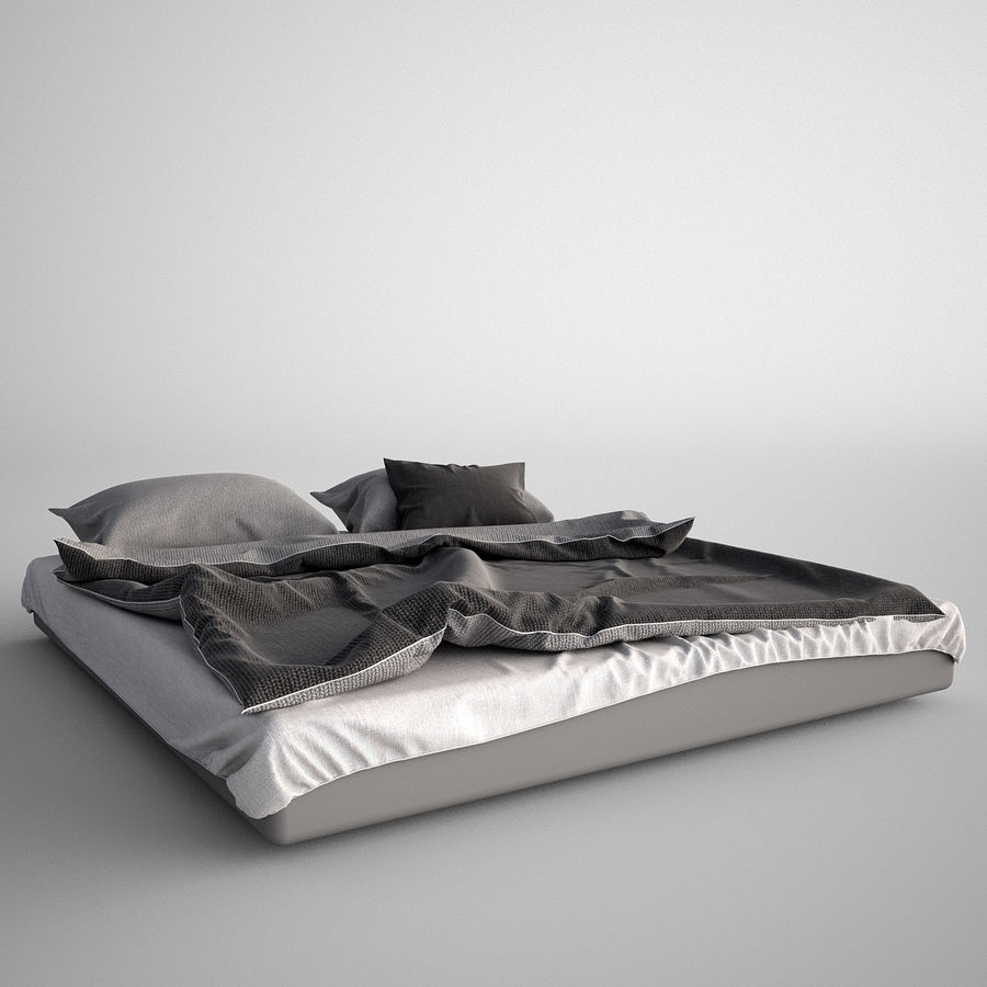 Bed Blanket royalty-free 3d model - Preview no. 4