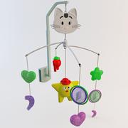 Cama de música infantil 3d model