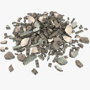 Stone Debris Rock Junk Rubbish 3d model