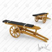 三管大炮 3d model