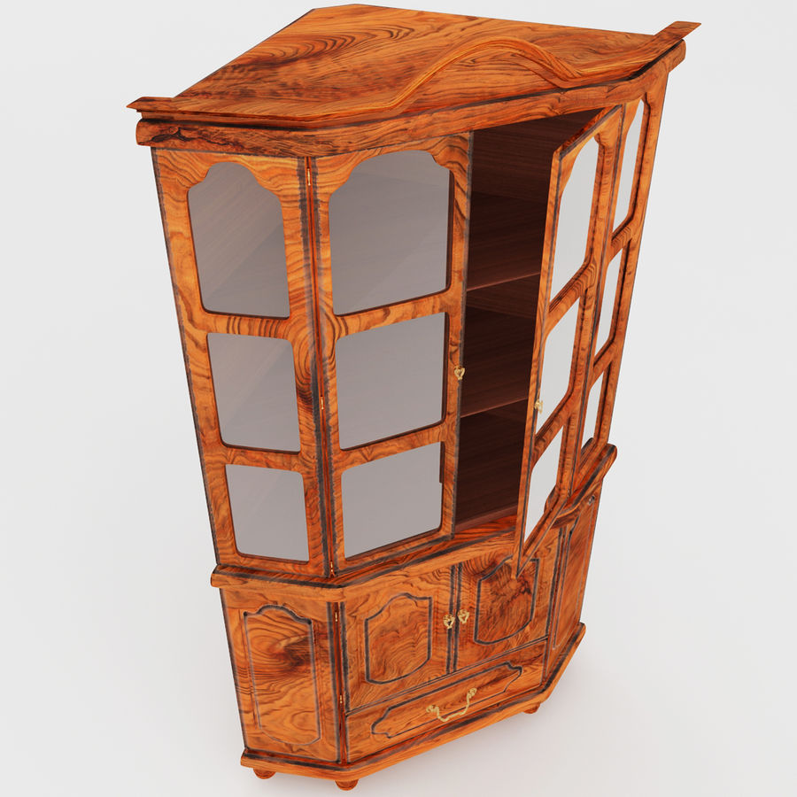 Corner Cupboard Furniture royalty-free 3d model - Preview no. 3