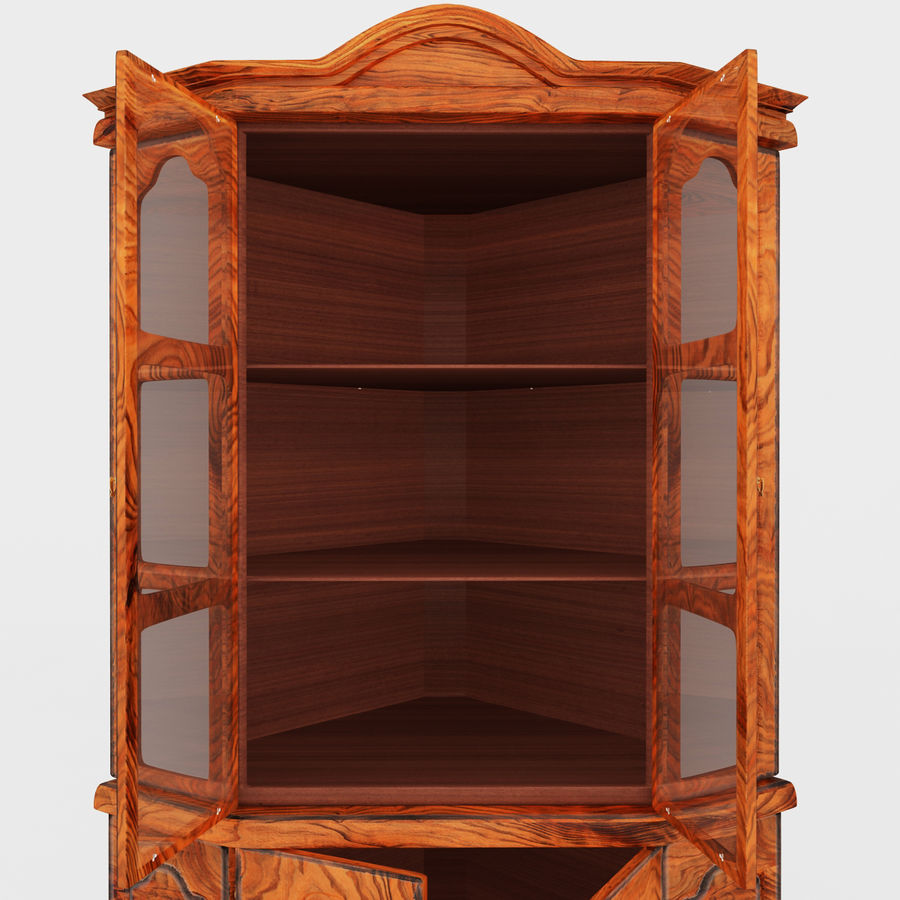 Corner Cupboard Furniture royalty-free 3d model - Preview no. 7
