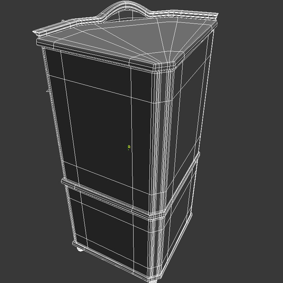 Corner Cupboard Furniture royalty-free 3d model - Preview no. 11