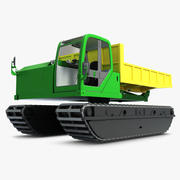 Traktor Komatsu CD 60R 3d model