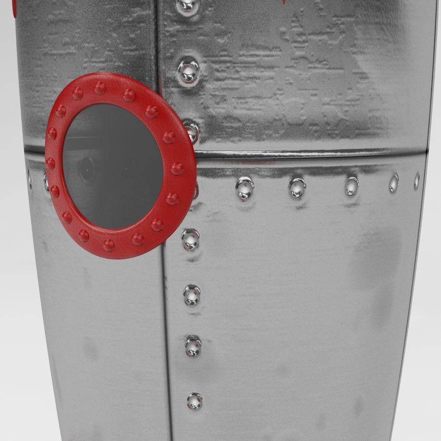 Retro Space Rocket royalty-free 3d model - Preview no. 3