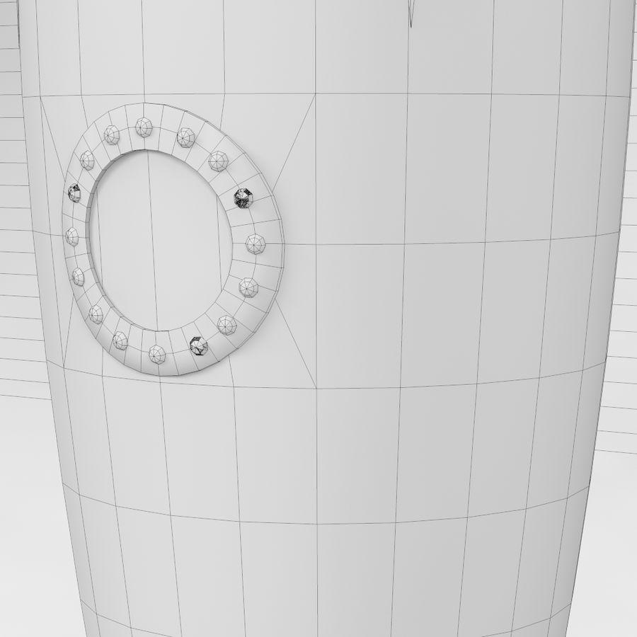 Retro Space Rocket royalty-free 3d model - Preview no. 7