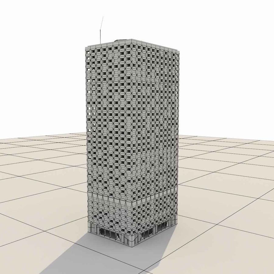 Destroyed Building Ruin royalty-free 3d model - Preview no. 8