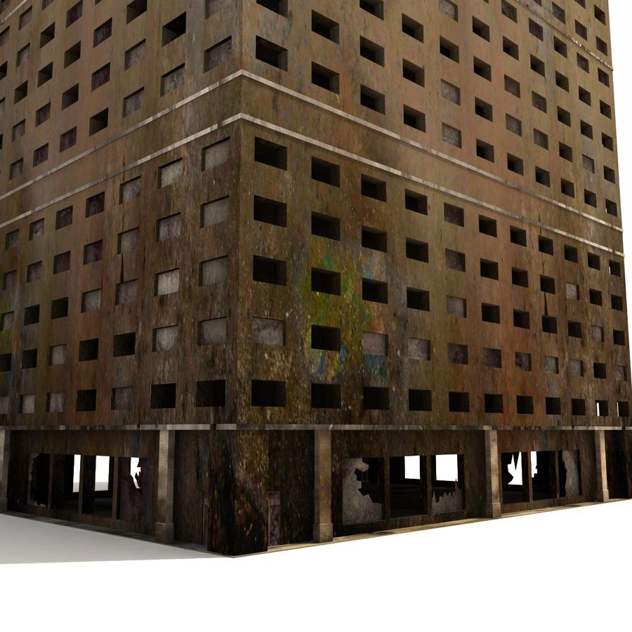 Destroyed Building Ruin royalty-free 3d model - Preview no. 4