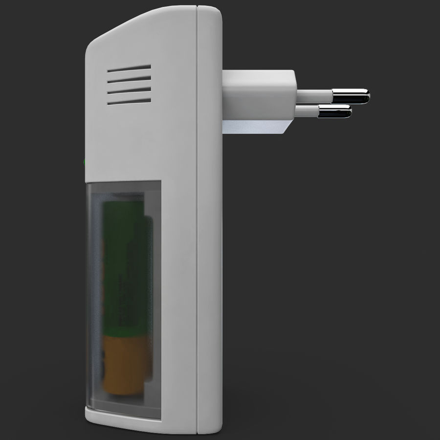 AAA Batteries Charger with Batteries royalty-free 3d model - Preview no. 8