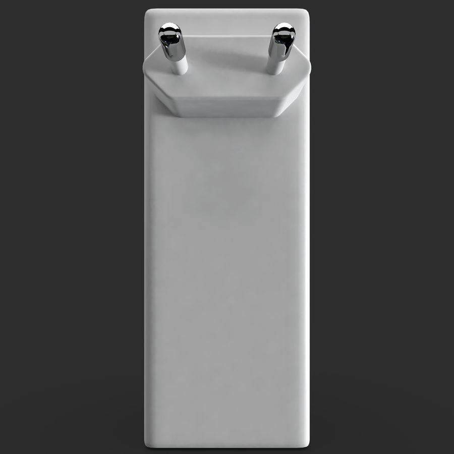 AAA Batteries Charger with Batteries royalty-free 3d model - Preview no. 4