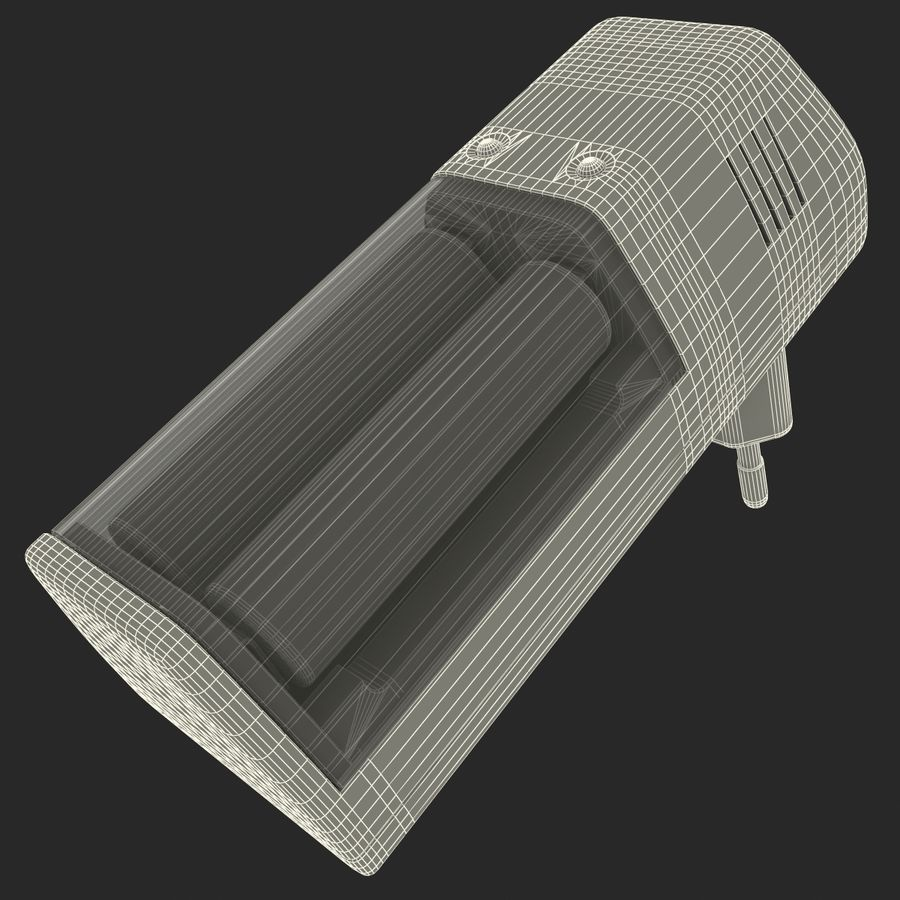 AAA Batteries Charger with Batteries royalty-free 3d model - Preview no. 15