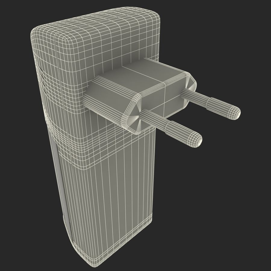 AAA Batteries Charger with Batteries royalty-free 3d model - Preview no. 21