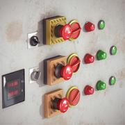コントロールボタンパック 3d model