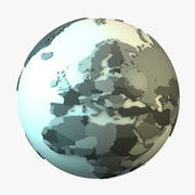 Earth with Countries 3d model