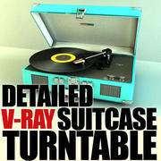Crosley suitcase turntable 3d model