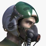 미그 파일럿 3d model
