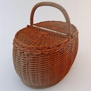 Wooden Basket 3 3d model