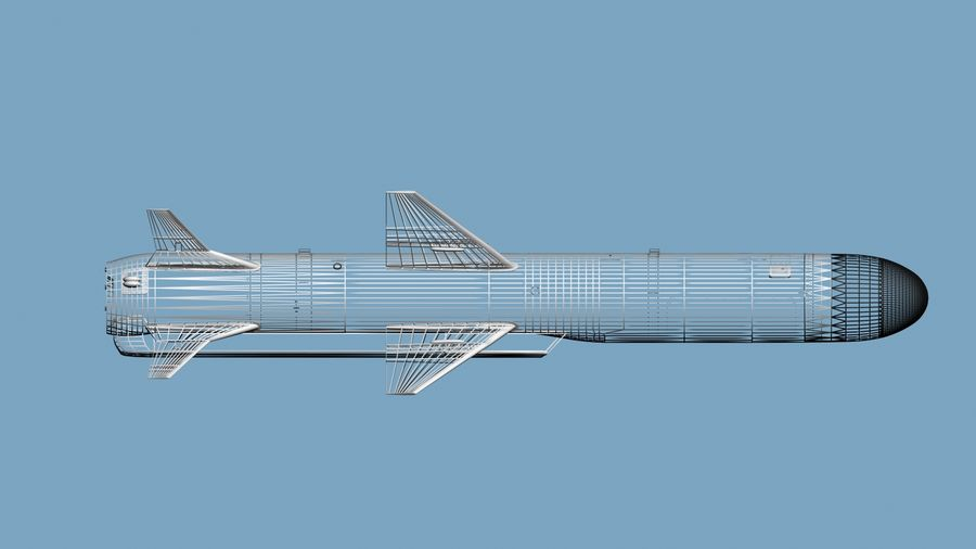 Kh-35 royalty-free 3d model - Preview no. 12