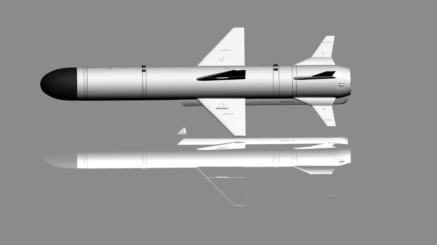 Kh-35 royalty-free 3d model - Preview no. 5