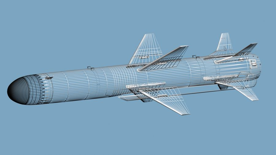 Kh-35 royalty-free 3d model - Preview no. 11