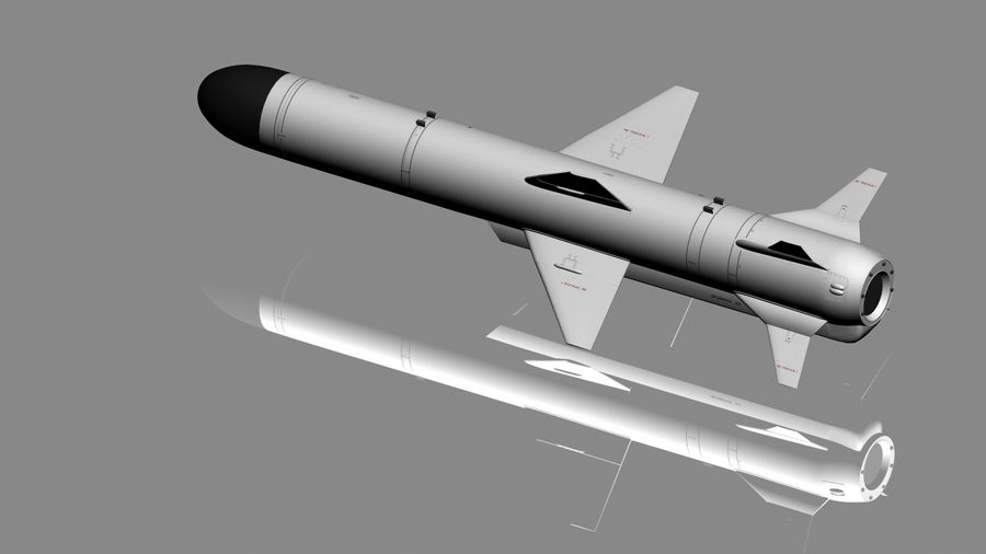 Kh-35 royalty-free 3d model - Preview no. 9